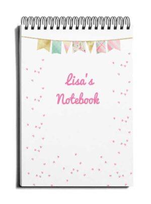pretty DIY cover for notebook