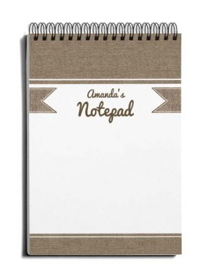 DIY personalized notebook