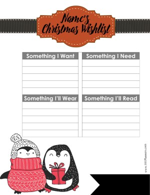 Four gift rule for Christmas printable