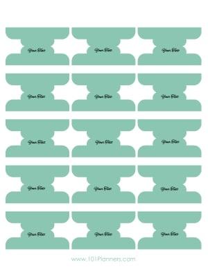 Printable binder tabs