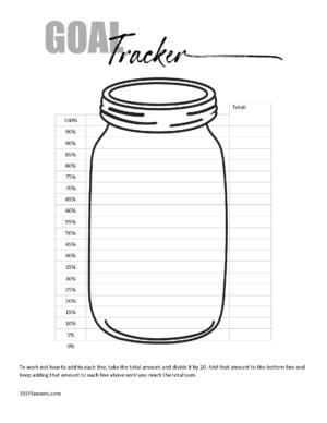 Mason jar goal tracker