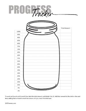 mason jar progress tracker