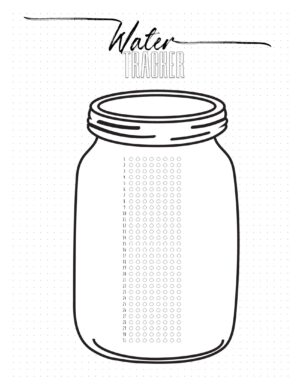 Water tracker bullet journal style