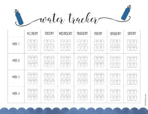 water challenge chart