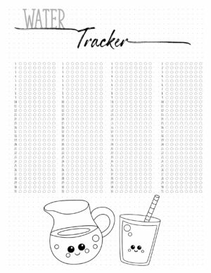 water tracker for 4 months