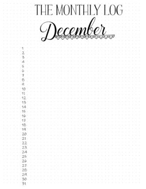 The Monthly Log