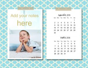 Printable two month calendar