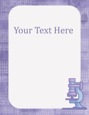 purple border with pretty purple microscope