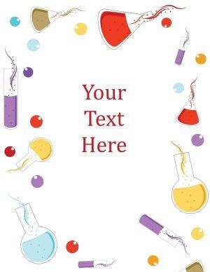 Cute science binder cover
