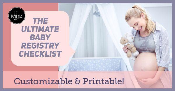 Baby registry checklist printable