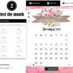 Select a calendar
