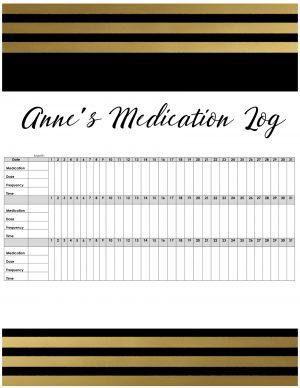 medication sheet