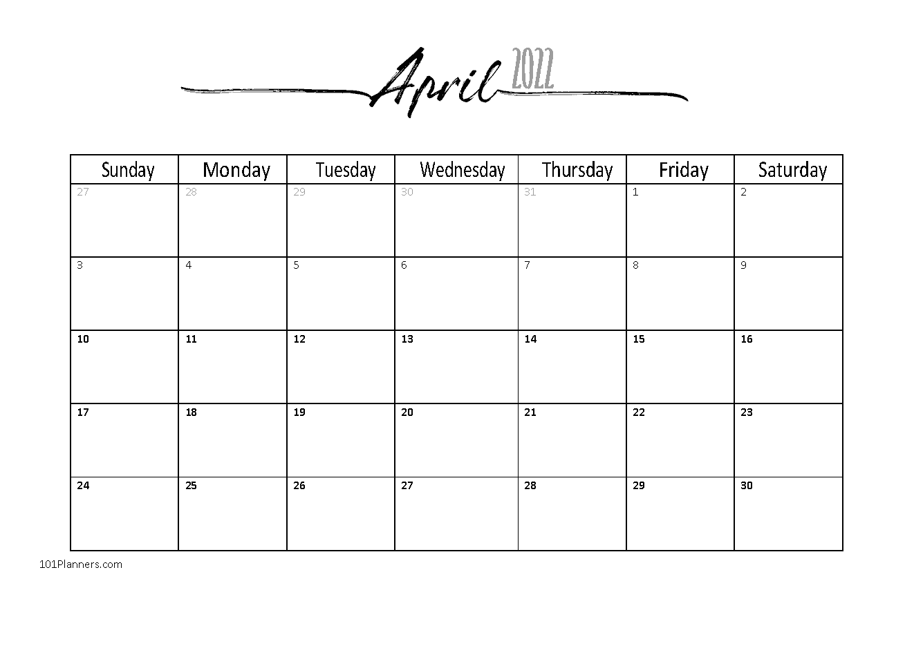 Free April 2021 Calendars 101 Different Designs And Borders