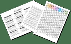 yearly blank calendar