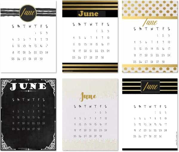Calendars June