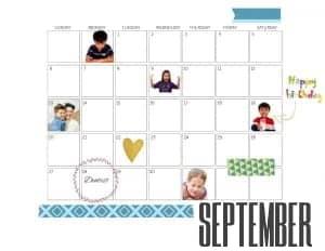 photo calendar September