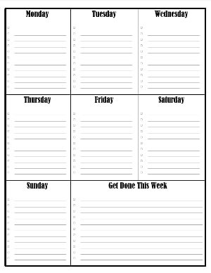 Weekly Checklist from Monday