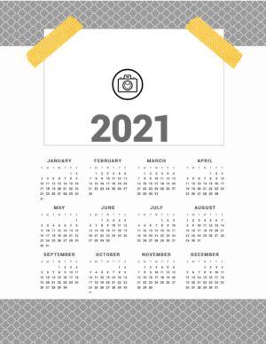 Design Your Own Calendar 2021 Background