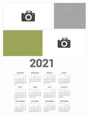 Photo yearly calendar