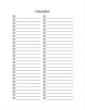 How to create a checklist