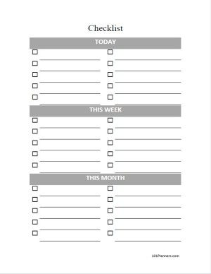Create checklist in Word