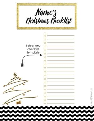 Checklist for Holiday Season