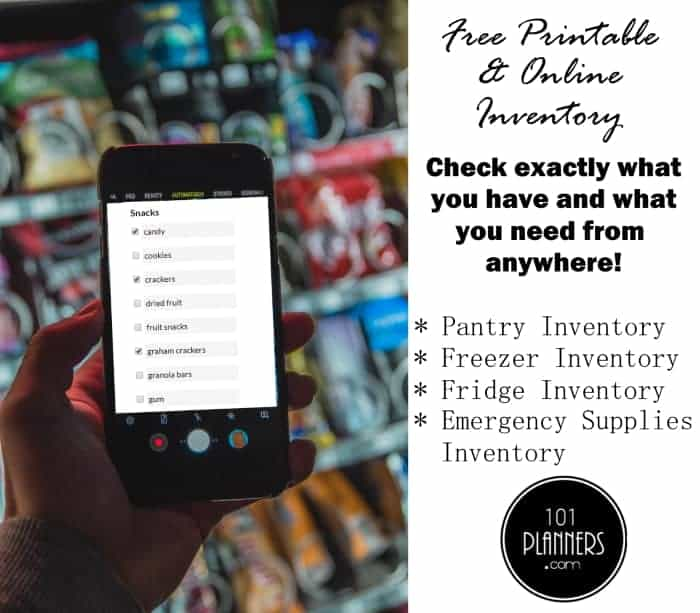 Free Online Printable Pantry Inventory List Access Anywhere