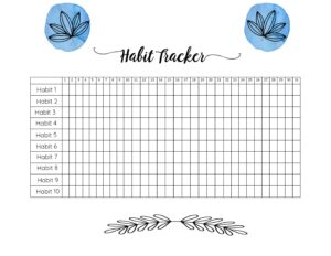 31 Day Tracker