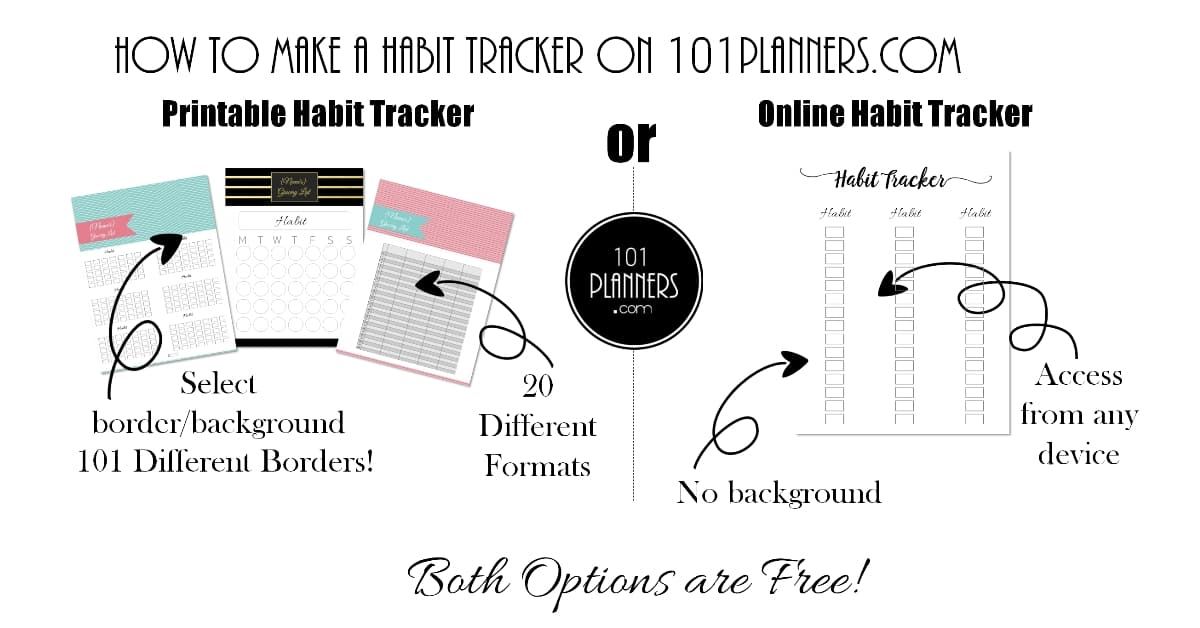 Free Habit Tracker Printable Customizable Instant Download