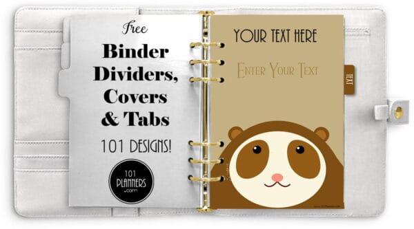 cute binder dividers