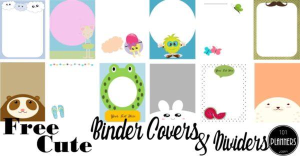 cute binder covers
