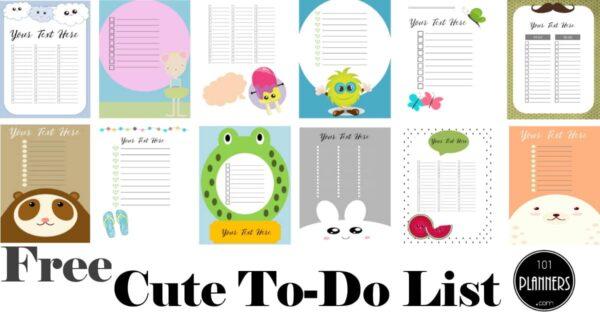 cute to do list