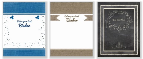 Free printable binder cover template