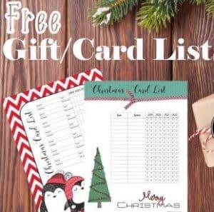 Christmas gift List Template