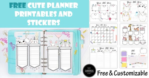 cute planners and stickers