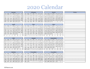 Calendar in blue and black