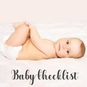 Newborn baby checklist printable