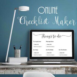 Online checklist maker