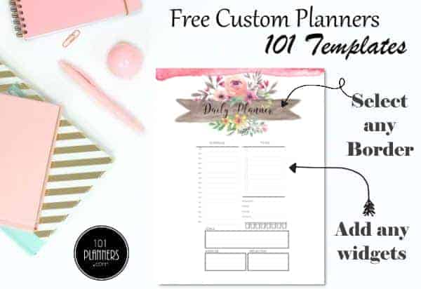 daily planner templates