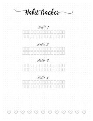 Bullet Journal Habits