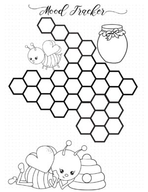 Bee themem printable