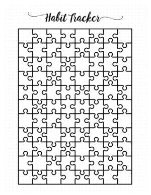 Puzzle habit tracker