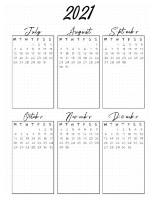 July to Dec