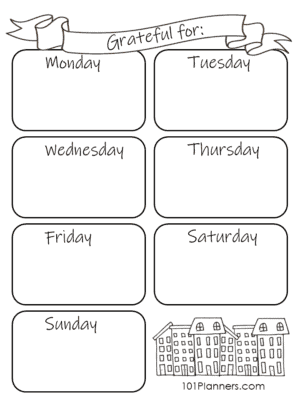Weekly Gratitude Template