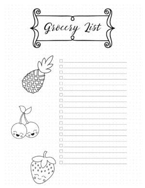Grocery list ideas