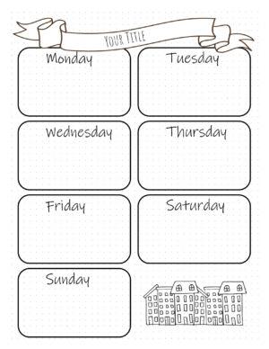Weekly spread Bujo