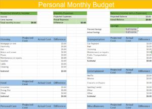 Savings Excel Template