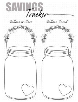 Bullet journal Savings Tracker