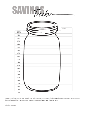 Savings Jar Printable