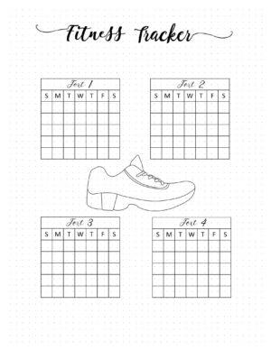 Bullet journal workout tracker